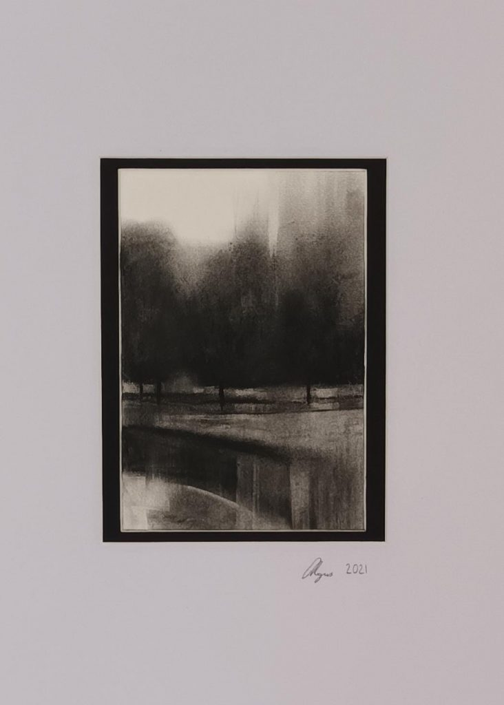 Amy Rogers - Untitled 12, 2021 - Charcoal - 52 x 43 cm - £220 (Framed)