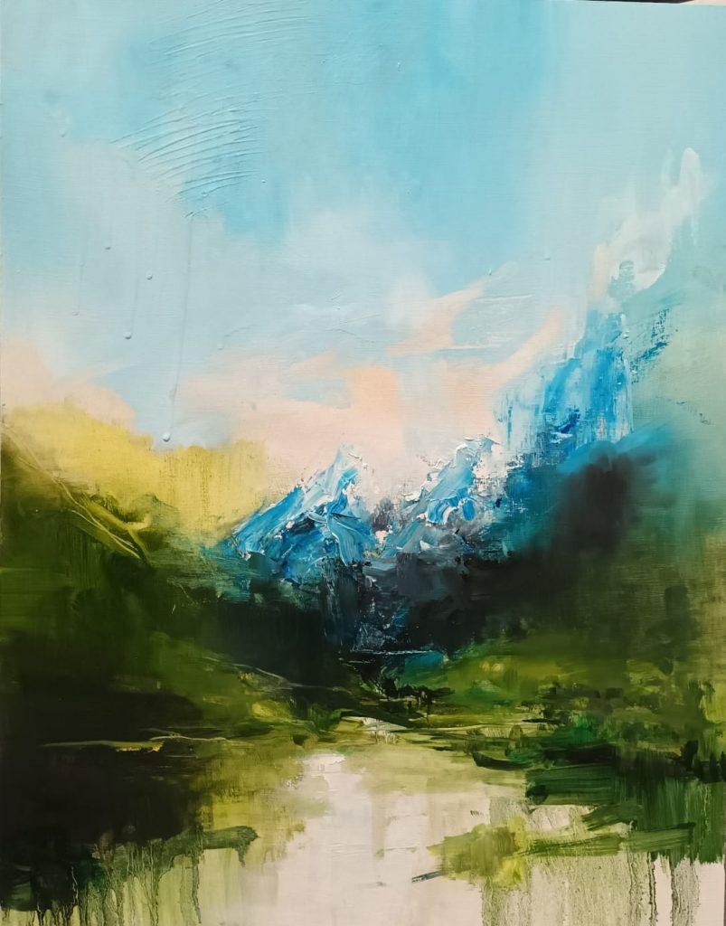 Amy Rogers - Untitled 5, 2021 - Oil on board - 43 x 56 cm - NFS
