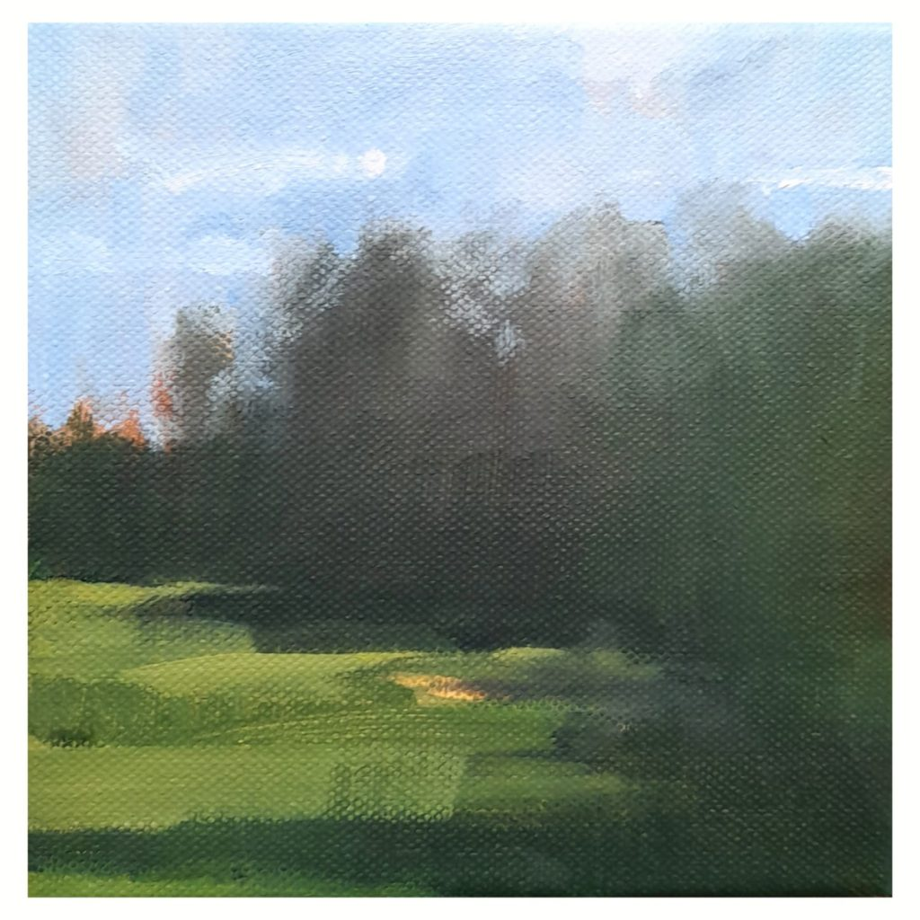 Amy Rogers - Untitled 7, 2021 - Oil on canvas - 15 x 15 cm - NFS