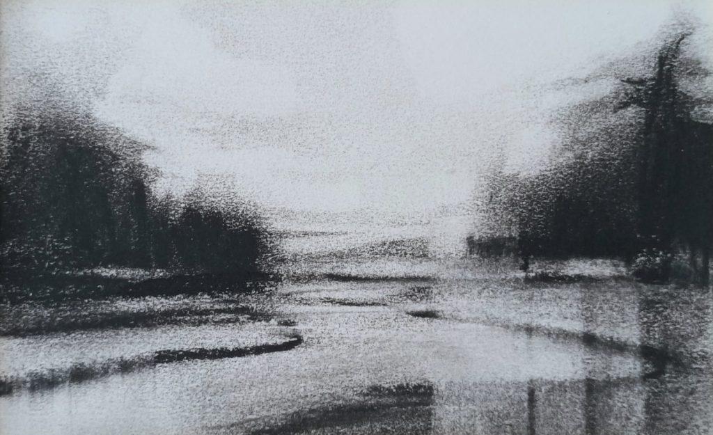 Amy Rogers - Untitled 9, 2021 - Charcoal - 12 x 20.5 cm - £120