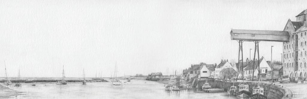 Izzy Wingham - Wells Harbour - Graphite Pencil - NFS